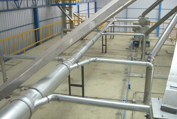 Nordfab Quick-Fit Ducting installed in a facility.
