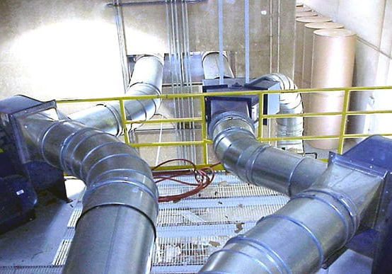 Nordfab Ducting installation at a paper and packing product manufacturing facility.