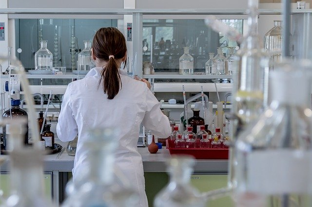 A lab technician working on pharmaceutical manufacturing.